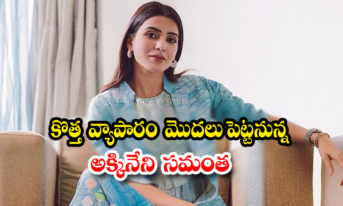 Tollywood Actress Samantha Akkineni Is Planning To New Business - Telugu Samantha Akkineni, Samantha Akkineni Business News, Samantha Akkineni Movie News, Samantha Akkineni New Business, Samantha Akkineni News, Tollywood News-Latest News-Telugu Tollywood Photo Image