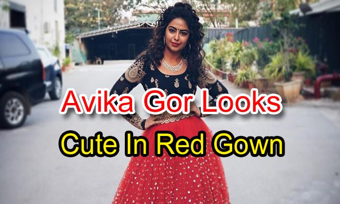 Avika Gor Looks Cute In Red Gown