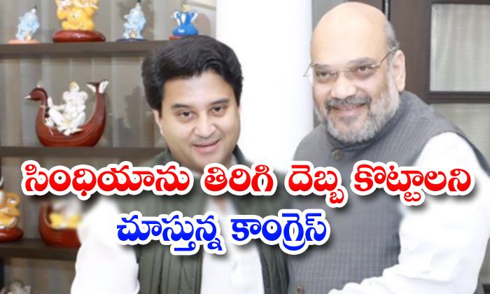 Madhya Pradesh Governament Give The Counter To Jyotiraditya Scindia
