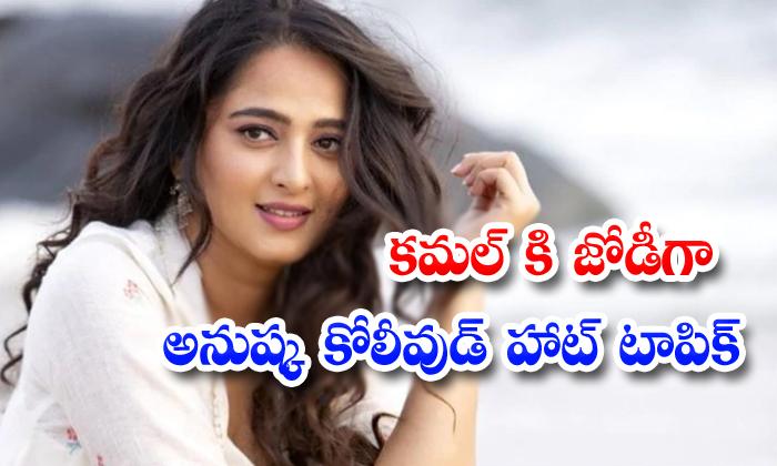 Anushka Ready To Romance With Kamal Haasan In Kollywood - Telugu Gowtham Menon South Cinema Tollywood