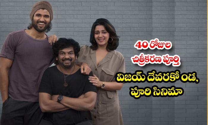 Vijay Devarakonda,puri Film Completed 40 Days
