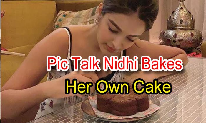 Pic Talk: Nidhhi Bakes Her Own Cake