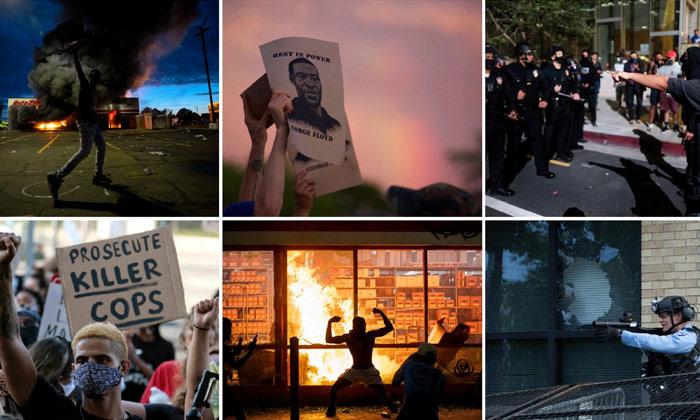 Telugu Black Man, George Floyd, Looting Erupt In America Over Killing Of Black Man By Police, National Guard, Protests-