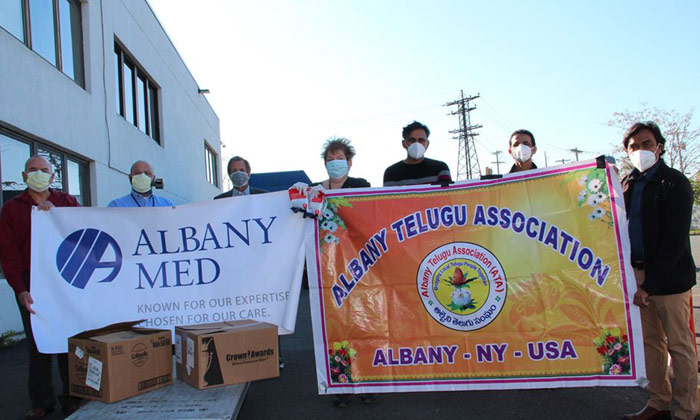 Telugu Albany Telugu Association, Covid-19, Covid-19 Kn95 Masks Donation To Front Line Workers, Kn95 Masks, Ppe-