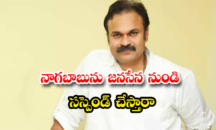 Nagababu Janasena Party Suspension