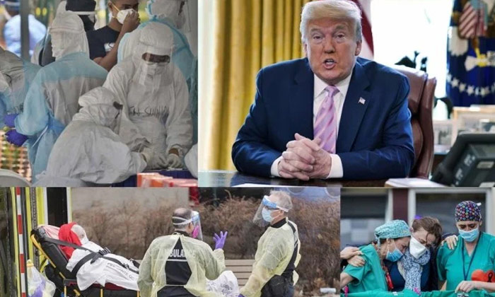 Telugu Covid-19, Death Count, Us President Donald Trump, Us President Donald Trump Plays Golf Amid Covid-19 Pandemic As Us Death Count Nears 1 Lakh-