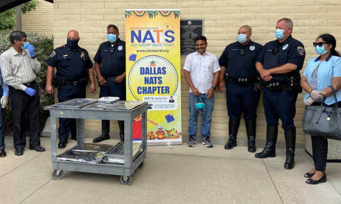 Telugu America, Coronavirus, Dallas, Free Meals For Police, Nats, Police Deportments-