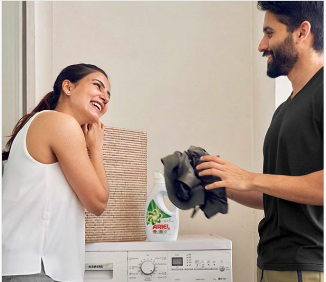Telugu Ariel Washing Powder, Brand Ambasaddor, Mahesh Babu, Naga Chaitanya, Namrata Shirodkar, Samantha-