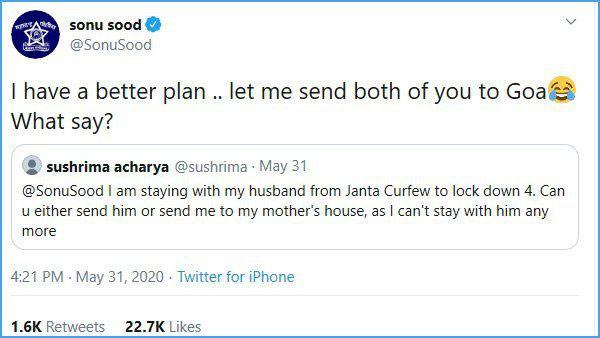 Telugu Sonu Sood, Sonu Sood Suggestion To Wife And Husband, Sonu Sood Tweets, Viral Post-
