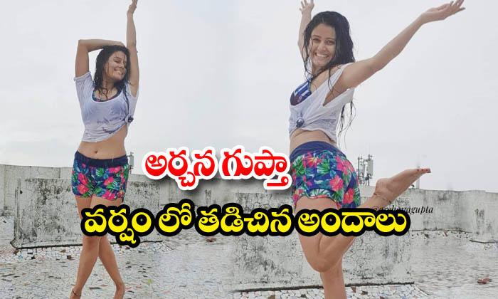 Archana gupta rain dance hot images-అర్చన గుప్తా వర్షం లో తడిచిన అందాలు
