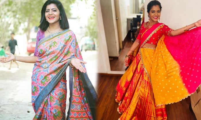 Big Boss Beauty Shiva Jyothi Traditional Stills-telugu Actress Hot Photos High Resolution Photo