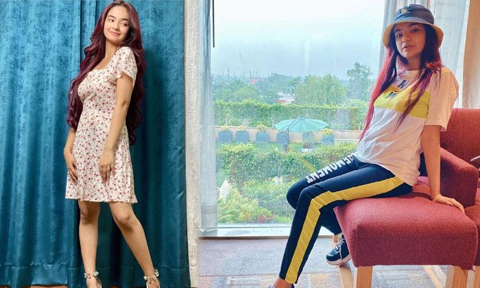 Bollywood Actress Anushka Sen Stunning Images-telugu Actress Hot Photos Bollywood Actress Anushka Sen Stunning Images - High Resolution Photo