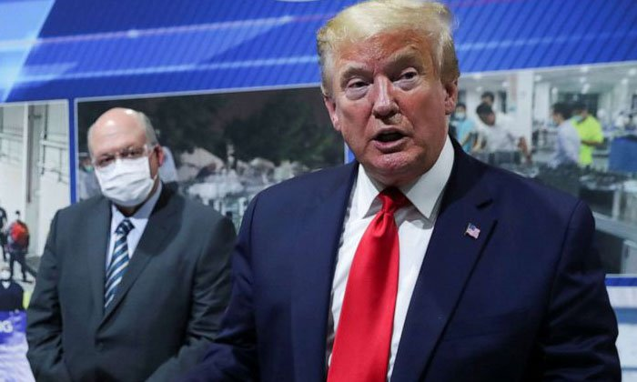 Telugu America, Corona Virus, Donald Trump, Donald Trump Wears Face Mask For The First Time, Election Campaign, Face Mask-
