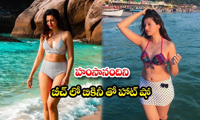 Hot beauty hamsa nandini beach vacation images-హంసానందిని బీచ్లో బికినీతో హాట్ షో