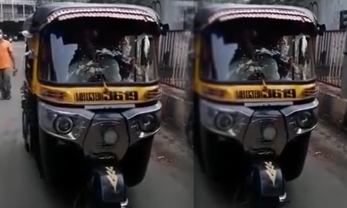 కరోనా స్పెషల్ ఆటోను ఎప్పుడైనా చూశారా -General-Telugu-Telugu Tollywood Photo Image