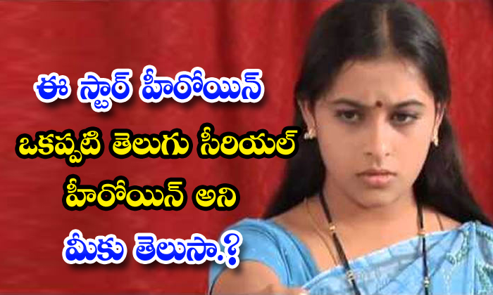 Did You You Know This Kollywood Star Heroine Is Serial Actress In Telugu