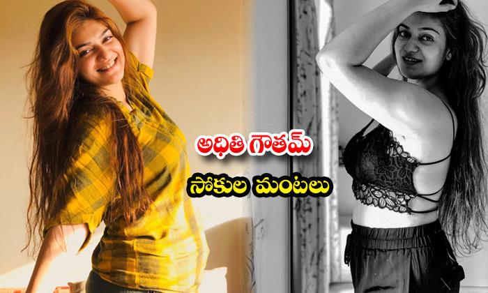 Actress aditi gautam awesome poses-అధితి గౌతమ్ సోకుల మంటలు