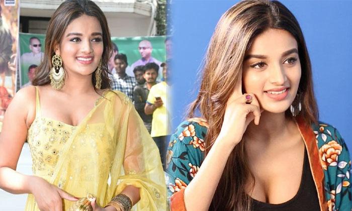 Actress Nidhhi Agerwal Cute Candid Clicks-telugu Actress Hot Photos Actress Nidhhi Agerwal Cute Candid Clicks - Telugu High Resolution Photo