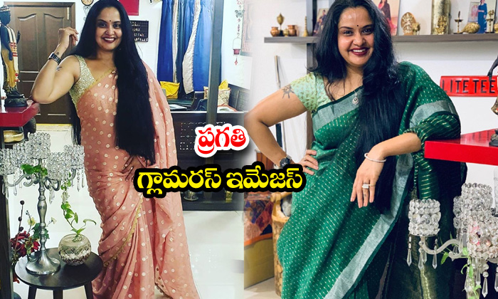 Actress pragathi traditional attaire-ప్రగతి గ్లామరస్ ఇమేజస్
