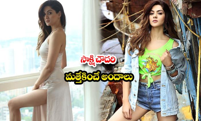 Actress sakshi chaudhary sexy stills-సాక్షి చౌదరి మత్తెక్కించేఅందాలు