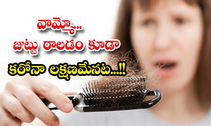 TeluguStop.com - Hair Loss Is Also The Symptom Of Coronavirus