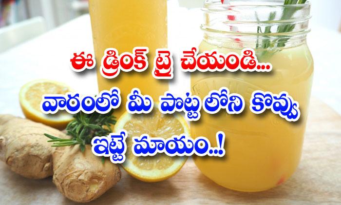 TeluguStop.com - Daily Drink Reduce Fat Lemon Ginger