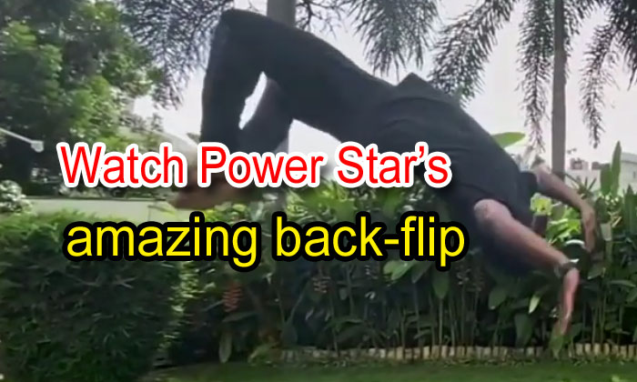 TeluguStop.com - Watch Power Star's Amazing Back-flip