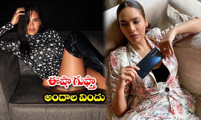 Sexy actress Esha Gupta glamorous Hot images-ఈషా గుప్తా అందాల విందు
