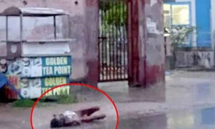 TeluguStop.com - ఆసుపత్రి ముందు గుర్తు తెలియని వ్యక్తి మృతి-General-Telugu-Telugu Tollywood Photo Image