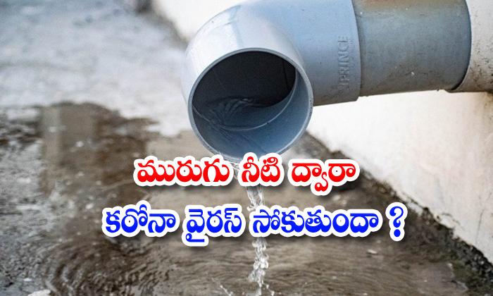 TeluguStop.com - Coronavirus Sewage Water Covid 19