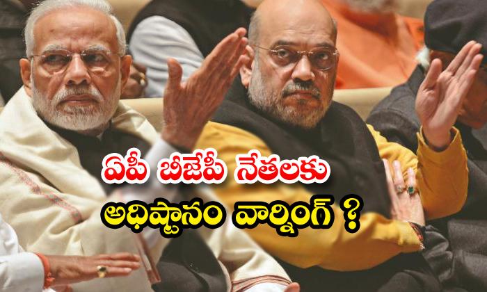 TeluguStop.com - Bjp Central Leaders Warning On Ap Bjp Leaders