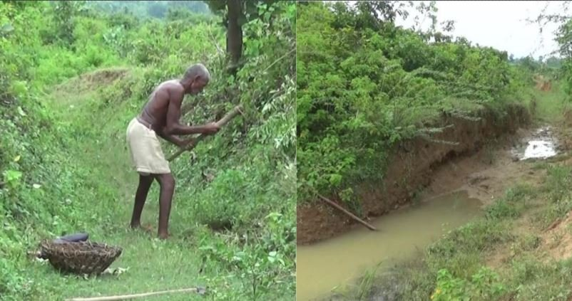 TeluguStop.com - An Old Man Dedicates 30 Years To Dig A Three Km-long Canal