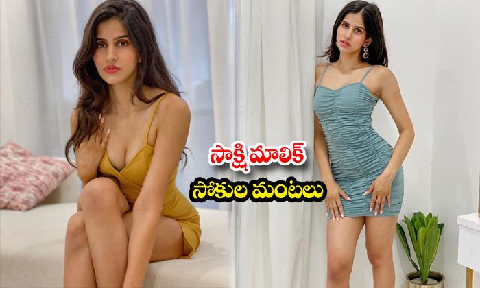 Bollywood Hot beauty Sakshi Malik romantic poses-సాక్షి మాలిక్ సోకుల మంటలు