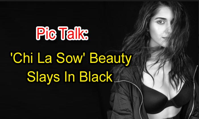 TeluguStop.com - Pic Talk: 'chi La Sow' Beauty Slays In Black