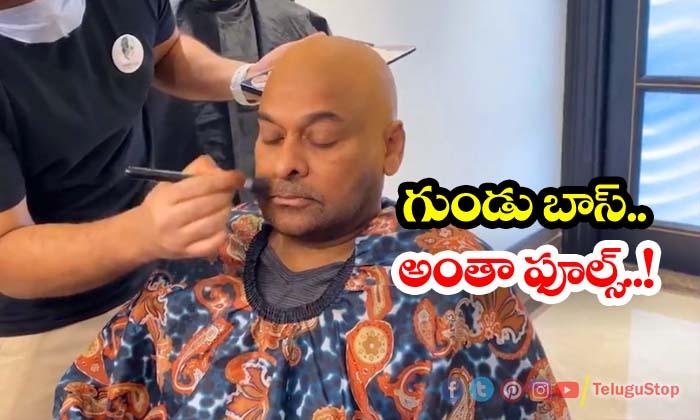 TeluguStop.com - Chiranjeevi Tonsured Look Is Fake