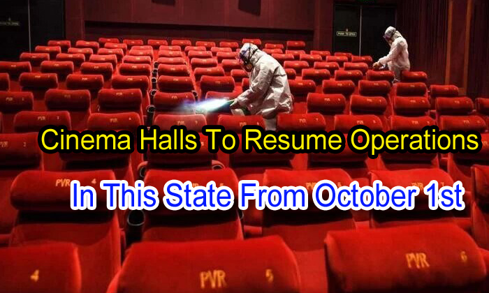 TeluguStop.com - Cinema Halls To Resume Operations In This State From October 1st