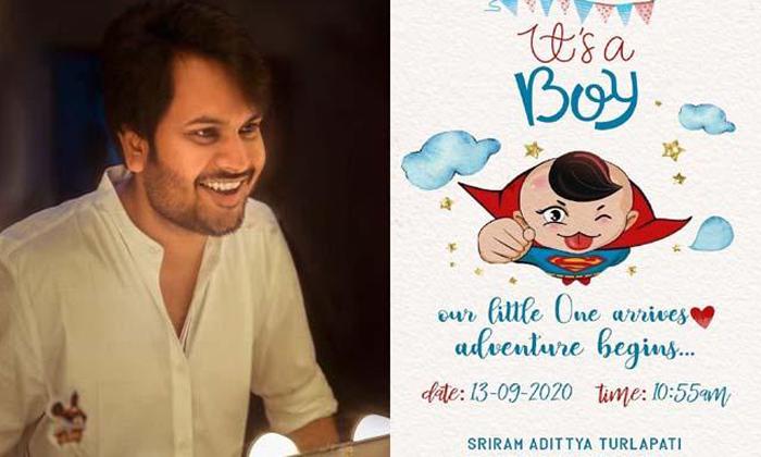 Director Sriram Adithya Welcomes Baby Boy-Latest News English-Telugu Tollywood Photo Image