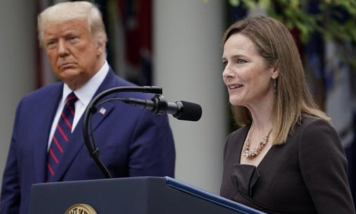 TeluguStop.com - Trump Selects Amy Coney To Fill Vacant At Us Supreme Court .