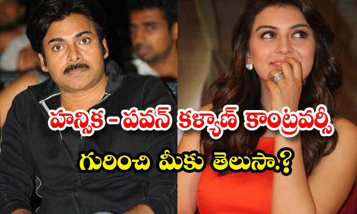TeluguStop.com - Hansika Comments On Pawan Kalyan Controversy