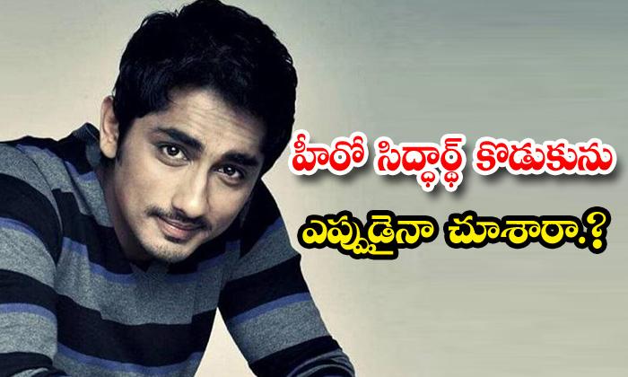 TeluguStop.com - Did You See Hero Siddarth Son Photo