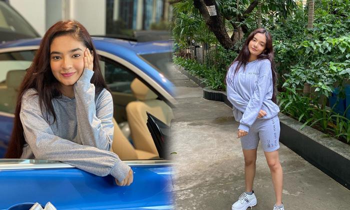 Images For Stunning Young Actress Anushka Sen With New Car-telugu Actress Hot Photos Images For Stunning Young Actress A High Resolution Photo