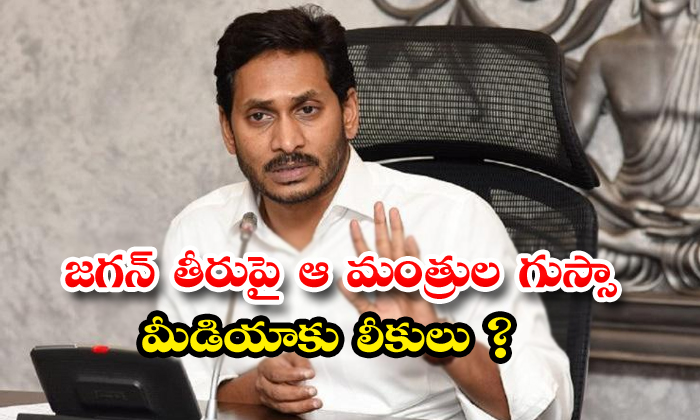Ap Ministers Angry On Jagan Behaviour