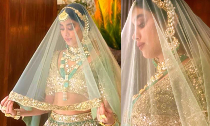 TeluguStop.com - Pic Talk: Janhvi's Bridal Look For Manish Malhotra's New Collection-Latest News English-Telugu Tollywood Photo Image