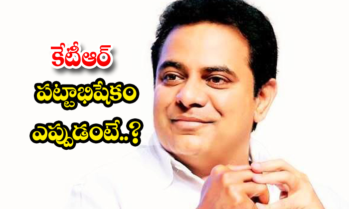 TeluguStop.com - Ktr As Chief Minister Post Greater Elections
