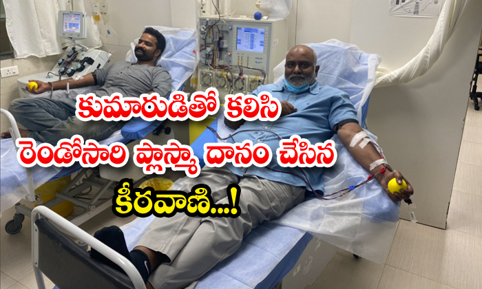 TeluguStop.com - Mm Keeravani And His Son Donate Plasma For Second Time At Kims