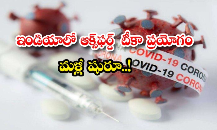 TeluguStop.com - Oxford Vaccine Clinical Trials Resume Soon