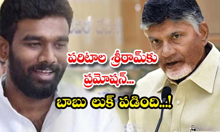TeluguStop.com - Paritala Sri Ram Youth President Post Chandrababu