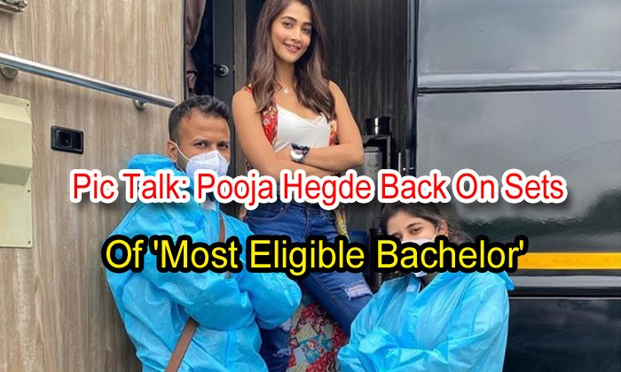 Pic Talk: Pooja Hegde Back On Sets Of 'most Eligible Bachelor'