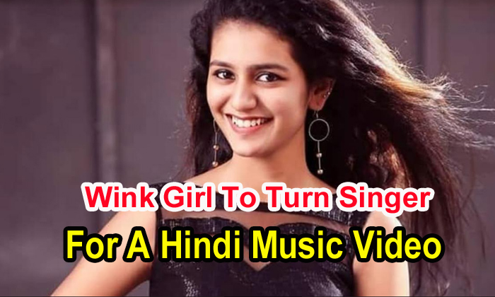 TeluguStop.com - Wink Girl To Turn Singer For A Hindi Music Video