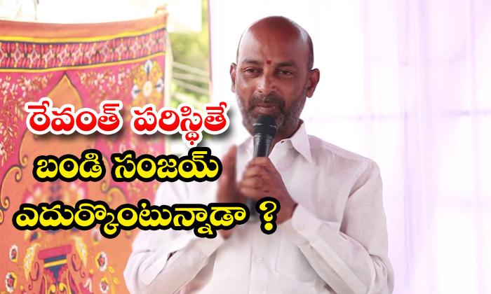 TeluguStop.com - Telangana Bjp President Bandi Sanjay Troubled On Own Party Leaders Behaviour